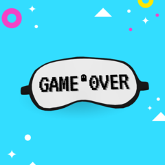 MÁSCARAS DE DORMIR ''GAME OVER 01''