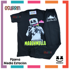 Pijama media estación Roblox Remera manga corta + Pantalón largo en internet