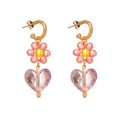 BRINCO SWEET HEART FLOWERS ROXO