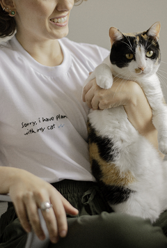 T-Shirt Sorry Cat - comprar online