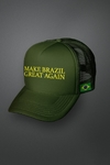 "Boné ""Make Brazil Great Again"" Verde Tela (cód. 221)"