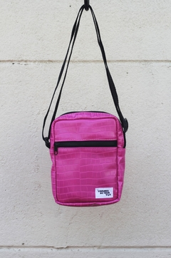 Shoulder bag pink croco