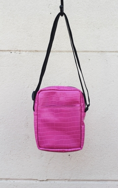 Shoulder bag pink croco - comprar online