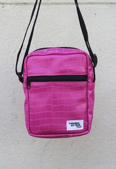 Shoulder bag pink croco na internet
