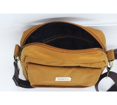 Shoulder bag caramelo com forro impermeável na internet