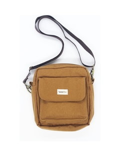 Shoulder bag caramelo com forro impermeável
