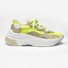 CHUNKY SNEAKER - Off White & Neon Lima