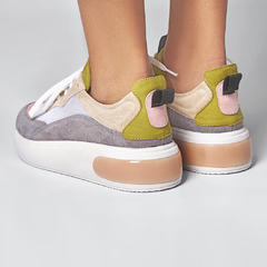 NEW SNEAKER - Titânio, Rosa & Pistache - Smidt Shoes
