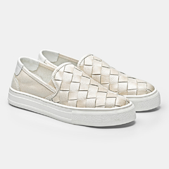 SLIPE ON TRICE - Off White & Branco - comprar online