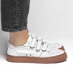 Sneaker Old School - Branco - Smidt Shoes