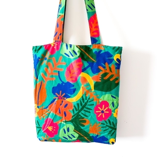 Ecobag estampada verde