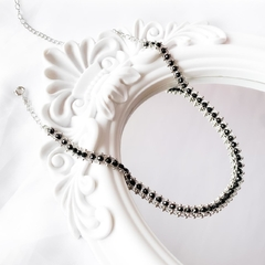 Chocker cristais preto