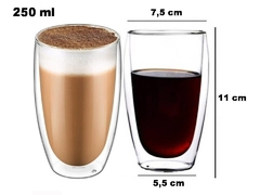 Pocillos X 6 Vasos Cafe Doble Pared Vidrio en internet