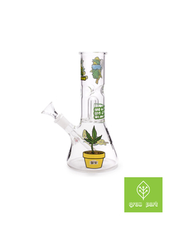 Ice Bong Glass  Percolator Stickers Squadafum (Verde) - comprar online