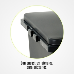 Recipiente Adosable con Tapa Plana 60 Lts. Plástico Colombraro en internet