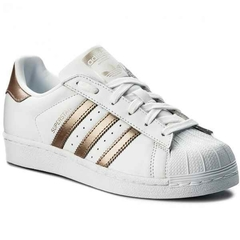 TENIS ADIDAS SUPERSTAR FOUNDATION FEMININO BRANCO ROSÊ
