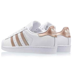 TENIS ADIDAS SUPERSTAR FOUNDATION FEMININO BRANCO ROSÊ na internet