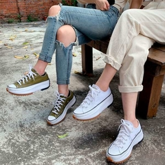 Converse Run Star Hike Low OX Tênis All Star Branco Plataforma Tratorada - loja online