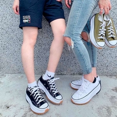 Imagem do Converse Run Star Hike Low OX Tênis All Star Branco Plataforma Tratorada