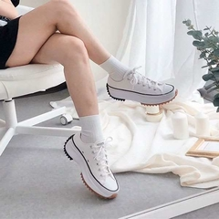 Converse Run Star Hike Low OX Tênis All Star Branco Plataforma Tratorada na internet