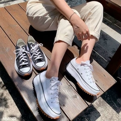 Converse Run Star Hike Low OX Tênis All Star Branco Plataforma Tratorada - Time Compra