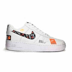 Tenis Nike Air Force One Fow Utility Cano Baixo Branco Just Feminino