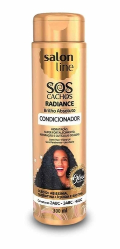 CONDICIONADOR SALON LINE SOS 300 ML CACHOS RADIANTE BRILHO ABSOL