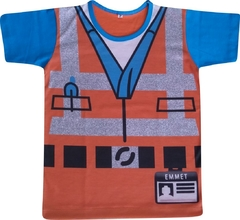 Camiseta Infantil Emmet Lego Movie