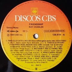 LP Ray Charles - Friendship - BOLACHÃO DISCOS