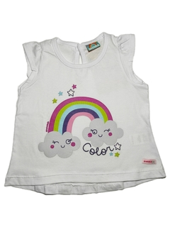 REMERA COLORES BLANCO BEBE NENA