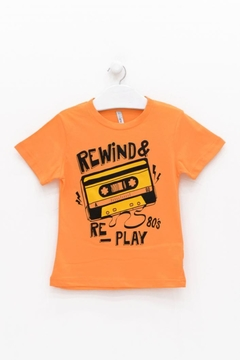 REMERA ADVANCED REPLAY NARANJA NENE