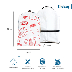 Mochila Blanca Eco pocket en internet