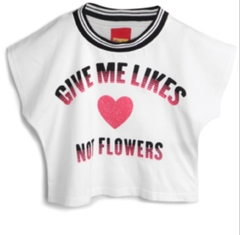 Blusa Give Me Likes, Not Flowers - Kyly