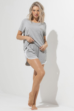Pijama Curto Day By Day Mescla (259.02) - Touch Me