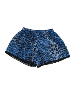 Short Leopardo Azul