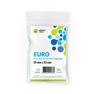 Sleeve Euro (59 mm x 92 mm) - Meeple Virus Blue Core