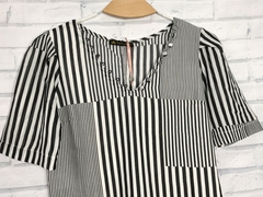 blusa princesa black/white - Ingridstorch