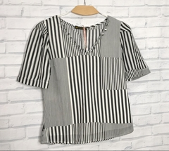 blusa princesa black/white