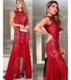 vestido longo luxurius red party