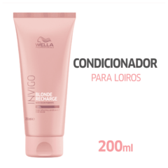 Wella Professionals Invigo Blonde Recharge Condicionador 200ml - Belas & Delas