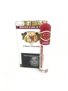 ROMEO Y JULIETA SHORT CHURCHILLS TUBO PACK POR 3 UNIDADES