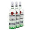 Rum Bacardi Carta Blanca 980ml - Kit 3 Unidades