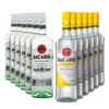 Rum Bacardi Carta Blanca/Limon 980ml - Kit 6 Unidades Cada