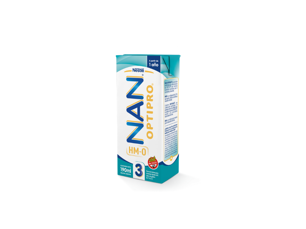 NAN 3 Leche OPTIPRO 1 A¥O x 190 ml