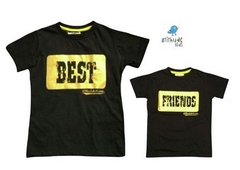Conjunto de camisetas Best friends - Preta
