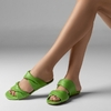 FLAT KNOT DOUBLE COURO VERDE CARRANO 314006