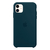 Capa de Silicone para iPhone 11 Apple - Azul Petróleo