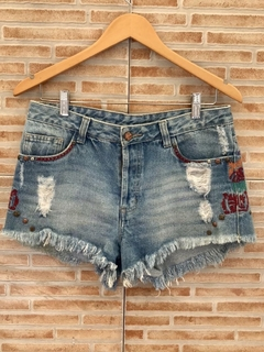 Short jeans bordado Farm - 38