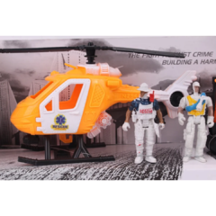 Super Set De Rescate Helicoptero Grua + Personajes - shemgroup