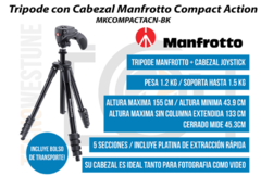 Tripode Manfrotto Compact Action en internet